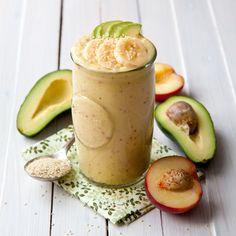 Peach and avocado smoothie