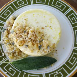 Buttermilk Sage Custards - The Pretty One
