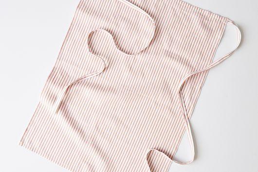 Summer Linen Striped Apron