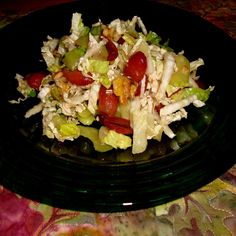 Napa Slaw with Poached Grapes
