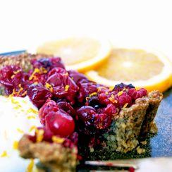 Cranberry Tart with Pepita & Oat Crust