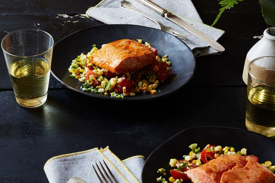 Ef3ddd69 5d29 47d2 a4f4 86f99da29042  2016 0712 corn husk smoked salmon with grilled corn salsa bobbi lin 2780