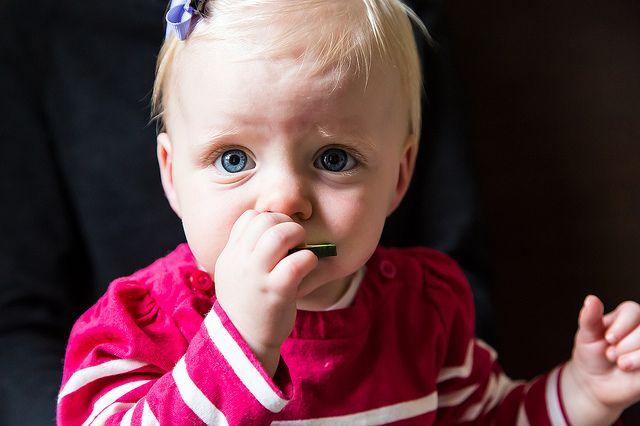 Clara Eating a Cucumber