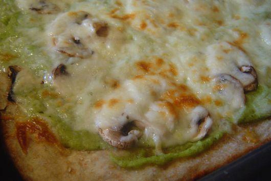 Two-Cheese Broccoli Pesto Flatbread