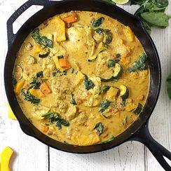 Butternut Chicken Curry and Cauliflower Rice
