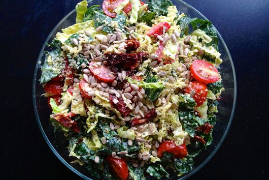 Creamy Kale and Cabbage Salad