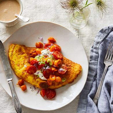Souffl'omelet with Roasted Tomatoes & Whipped Ricotta