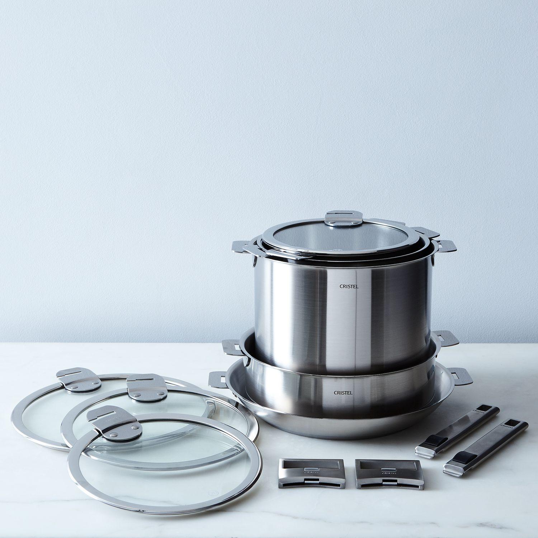 cristel space saving 13 piece cookware set on food52. Black Bedroom Furniture Sets. Home Design Ideas
