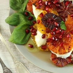 Mixed citrus caprese salad