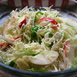 Jalapeño-Apple Slaw with Honey Lime Vinaigrette