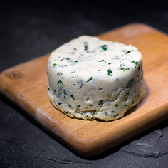 Fresh Homemade Herbed Indian Cheese