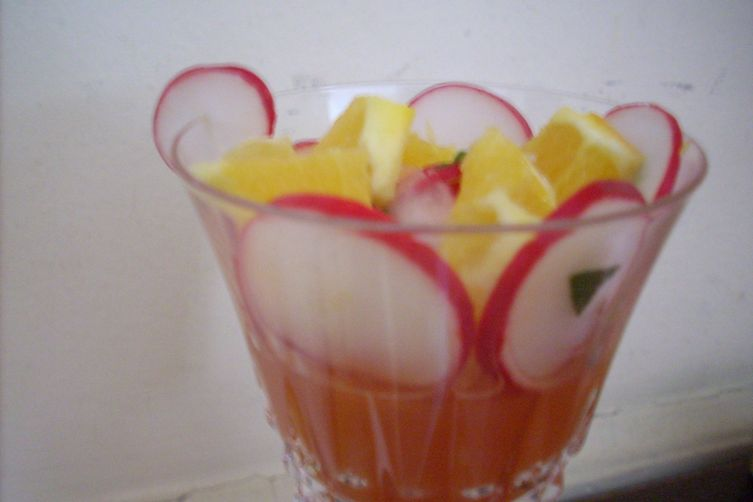 Picado de Rabana Verrine with Red Radishes