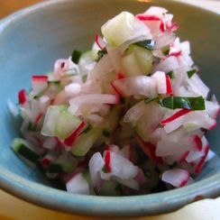 Herbed Radish and Cucumber Relish