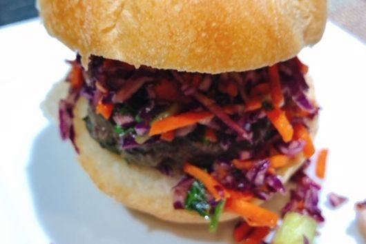 Asian Sliders With Red Cabbage Slaw
