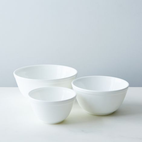 Milk Glass 3-Piece Mixing Bowl Set