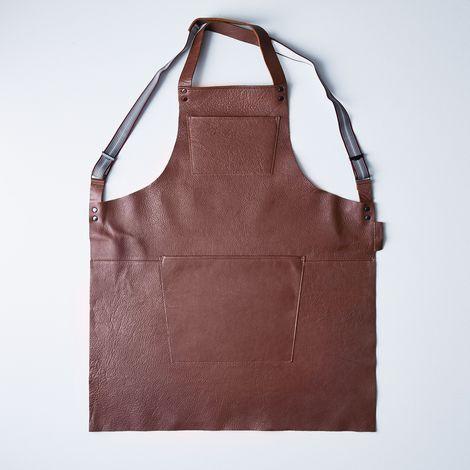Dutch Leather Suspender Apron
