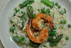 99c01a87 32e5 4825 8641 3837029d5d0d  598 preserved lemon and spring vegetable risotto with grilled pernod shrimp