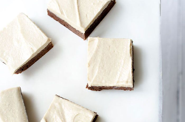 Brownies with Tahini Frosting