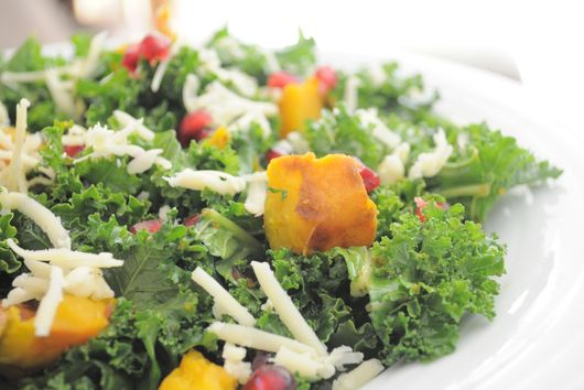 Roasted Kabocha and Kale Fall Salad