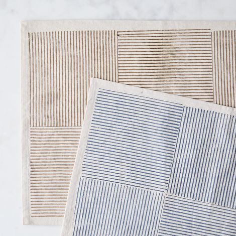 Hand Block Printed Cotton Placemat (Set of 4)