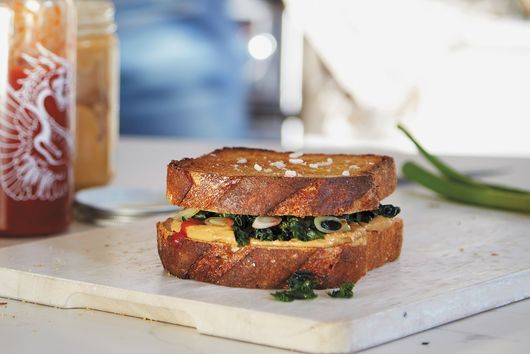 Peanut Butter & Greens Sandwich