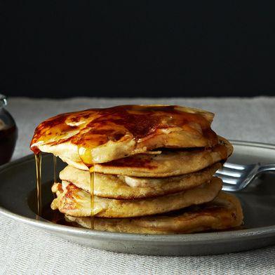 Fruit-Laden, Whole-Grain Pancakes