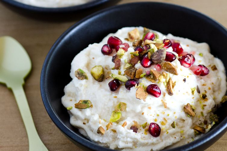 Coconut-Ricotta Mousse with Pistachio and Pomegranate Recipe on Food52