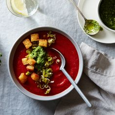 Gazpacho with Spring Pesto