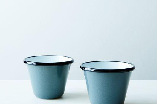 Porcelain Enamelware Stacking Cups