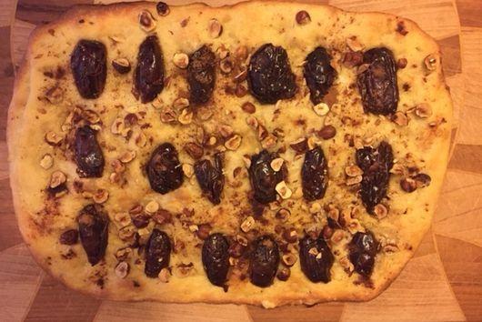 Date and Hazelnut Focaccia