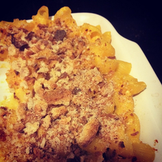 butternut (or acorn) squash mac & cheese