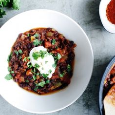 Vegetarian chili with orange and spicy spices