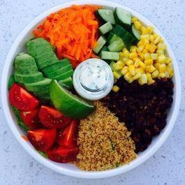 Mexican Rainbow Salad Bowl