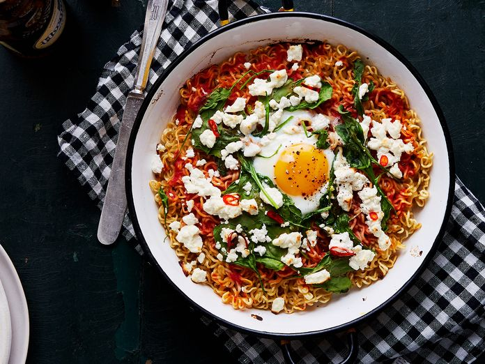 How to Turn Your Instant Ramen into (Nearly) Instant Pizza