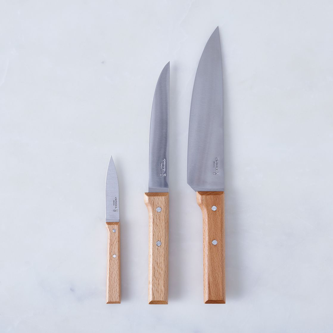 Uncategorized Kitchen Knives Set opinel kitchen knives set of 3 on food52 3