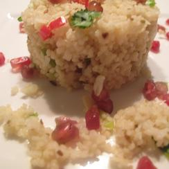 Cumin and Pomegranate couscous