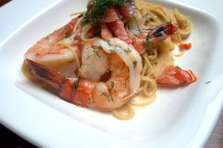 Shrimp in Sambuca Cream Sauce