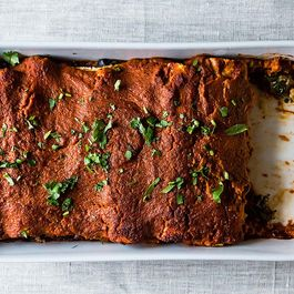 Wintry Mushroom, Kale, and Quinoa Enchiladas