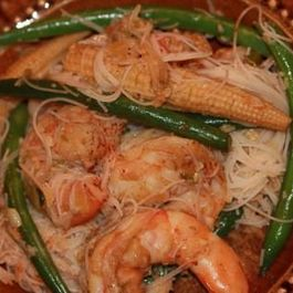 Coconut Curry Shrimp with Rice Noodles