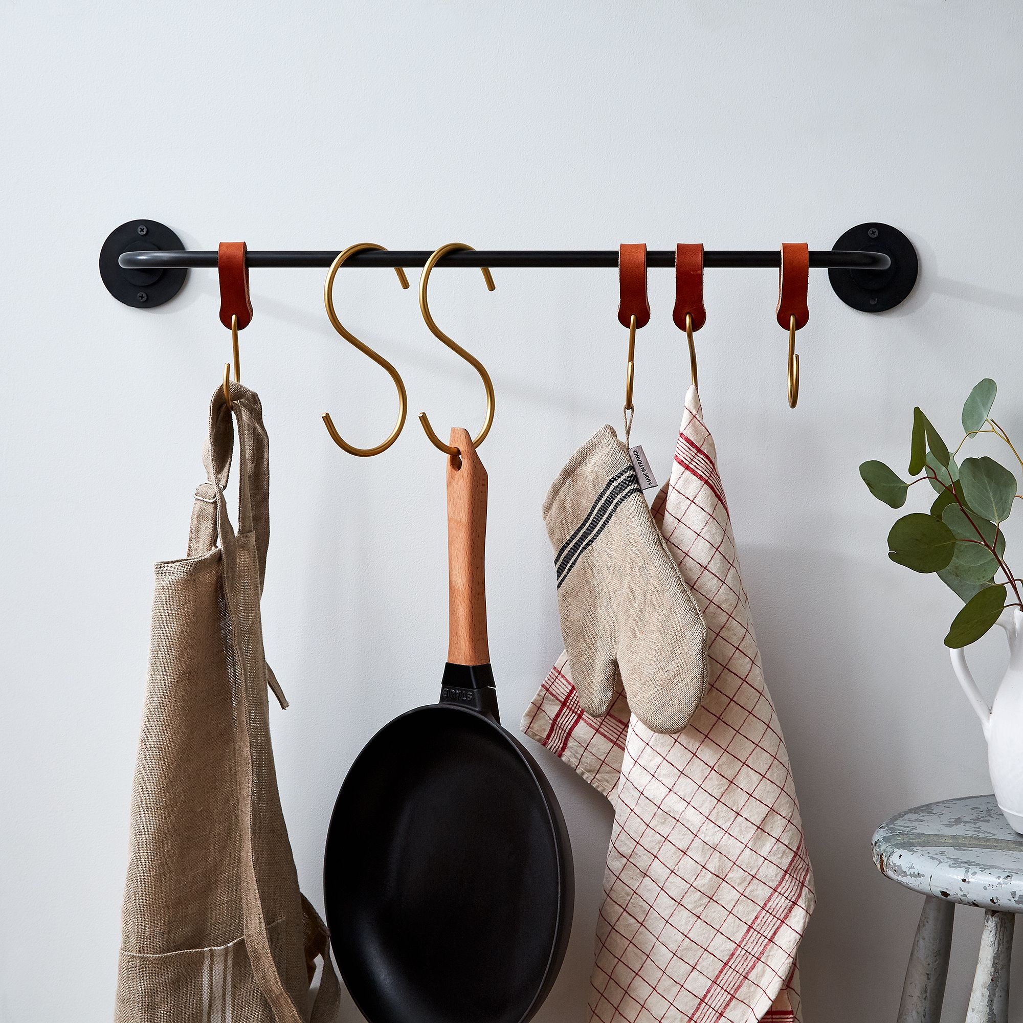 of kitchen ideas saucepan small size hanging with storage full bar creative rack pot ceiling pan holders