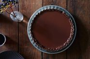 Cinnamon Chocolate Tart with a Pecan Crust