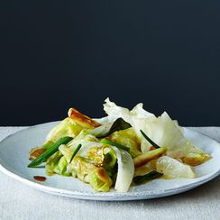 Grace Young's Stir-Fried Lettuce