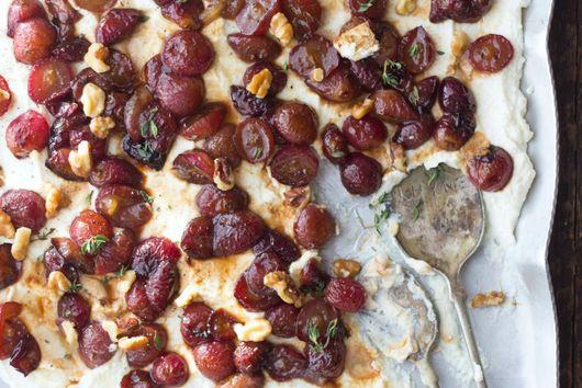 Roasted Balsamic Grape & Creamy Lemon Ricotta Dip