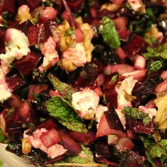 Crunchy Mediterranean Beet and Mint Salad