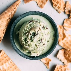 Matcha Mint Chip Ice Cream