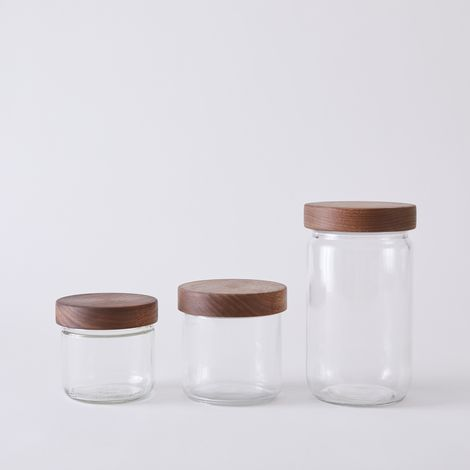 Stackable Storage Jars with Hand-Turned Lids
