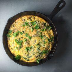 Mushroom, Kale & Parmesan Frittata