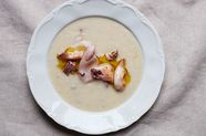 Dinner in 10 Minutes: Velvet-Smooth Chickpea Soup (Calamari Optional)