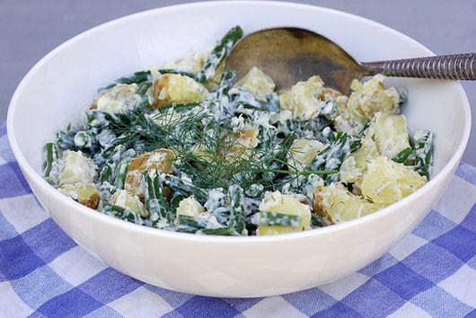 Potato Green Bean Salad with Lemon Dill Aioli