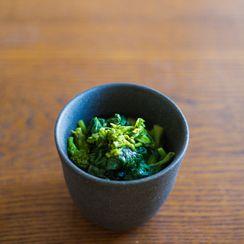Broccoli raab with mustard sauce
